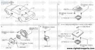 28175 - grille, speaker rear - BNR32 Nissan Skyline GT-R
