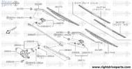 26385 - arm assembly, windshield wiper - BNR32 Nissan Skyline GT-R