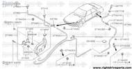 27460 - hose, washer - BNR32 Nissan Skyline GT-R