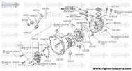 32101E - pin, dowel transmission case - BNR32 Nissan Skyline GT-R