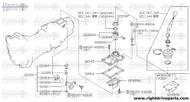 32292+A - pin, retaining - BNR32 Nissan Skyline GT-R