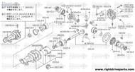 38342 - seal, oil differential side - BNR32 Nissan Skyline GT-R