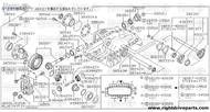 38210J - nut, drive pinion - BNR32 Nissan Skyline GT-R