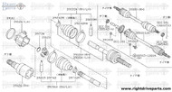 39126 - joint assembly, inner - BNR32 Nissan Skyline GT-R