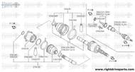 38221X - flange assembly, slide RH - BNR32 Nissan Skyline GT-R