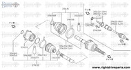 39601 - shaft assembly, rear drive LH - BNR32 Nissan Skyline GT-R