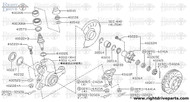 40228+A - nut assembly, bearing lock - BNR32 Nissan Skyline GT-R