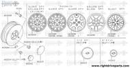 40300M - aluminium wheel - BNR32 Nissan Skyline GT-R