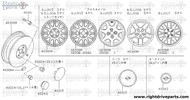40343+A - ornament, disc wheel - BNR32 Nissan Skyline GT-R