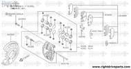41080K - hardware kit, front disc brake pad - BNR32 Nissan Skyline GT-R