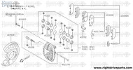 41151M - plate, baffle - BNR32 Nissan Skyline GT-R