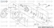 44180E - plate, shoe guide - BNR32 Nissan Skyline GT-R