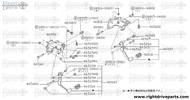 46512M - stopper, rubber - BNR32 Nissan Skyline GT-R