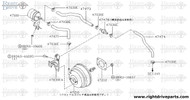 47473 - hose, vacuum tank to check valve - BNR32 Nissan Skyline GT-R