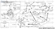 47671M - cover, actuator - BNR32 Nissan Skyline GT-R