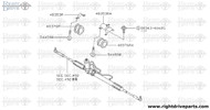 48353R - bracket - BNR32 Nissan Skyline GT-R