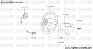 48465M - lid, steering RH - BNR32 Nissan Skyline GT-R