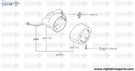 48473X - cover set, steering column front - BNR32 Nissan Skyline GT-R