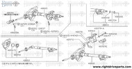 48970 - lever assembly, adjust steering column - BNR32 Nissan Skyline GT-R