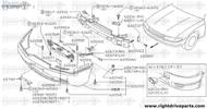 62216 - bracket, front bumper stay RH - BNR32 Nissan Skyline GT-R