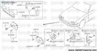 62568M - seal, head lamp hole RH - BNR32 Nissan Skyline GT-R