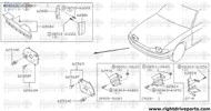 62880 - guide, air side RH - BNR32 Nissan Skyline GT-R