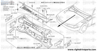 66324N - brace, cowl top side - BNR32 Nissan Skyline GT-R