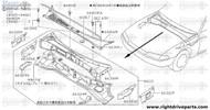 66817 - cover, cowl top grille LH - BNR32 Nissan Skyline GT-R