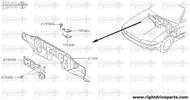 75500M - foot rest assembly - BNR32 Nissan Skyline GT-R