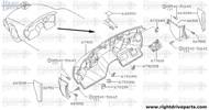 64899X - cover, hole - BNR32 Nissan Skyline GT-R
