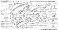 68170N - stay assembly, instrument driver - BNR32 Nissan Skyline GT-R
