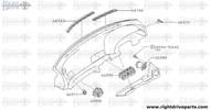 66571 - grille, side defroster LH - BNR32 Nissan Skyline GT-R