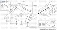 72812 - molding, windshield side RH - BNR32 Nissan Skyline GT-R