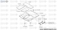 73930 - insulator, roof - BNR32 Nissan Skyline GT-R