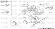 74368 - bracket assembly, instrument stay - BNR32 Nissan Skyline GT-R