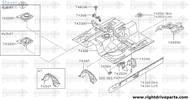 74855H - bracket, hand brake lever - BNR32 Nissan Skyline GT-R