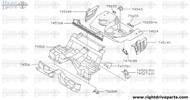 75680M - bracket, rear seat - BNR32 Nissan Skyline GT-R