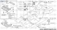 57210Q - clamp, spare tire - BNR32 Nissan Skyline GT-R