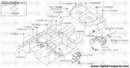 74300A - plug, front floor - BNR32 Nissan Skyline GT-R