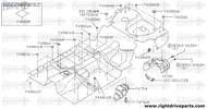 74300AB - plug, front floor - BNR32 Nissan Skyline GT-R