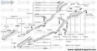 74889H - bracket, fuel tank - BNR32 Nissan Skyline GT-R