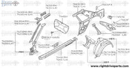 76414 - reinforcement, sill outer RH - BNR32 Nissan Skyline GT-R