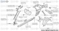 76415 - reinforcement, sill outer LH - BNR32 Nissan Skyline GT-R