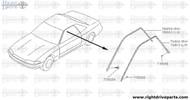 78859 - retainer, weather strip RH - BNR32 Nissan Skyline GT-R