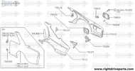 78110 - fender, rear RH - BNR32 Nissan Skyline GT-R