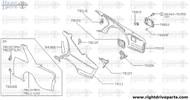 78111F - retainer, tapping striker LH - BNR32 Nissan Skyline GT-R