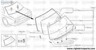 79616 - dam rubber, sealant - BNR32 Nissan Skyline GT-R