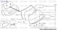 79811E - clip, molding - BNR32 Nissan Skyline GT-R