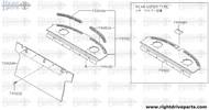 79950N - escutcheon, air drafter parcel shelf RH - BNR32 Nissan Skyline GT-R
