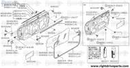 80101H - stiffener, door - BNR32 Nissan Skyline GT-R